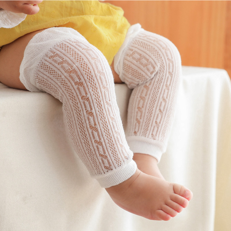 ​​baby Leg Warmers Toddler Boys Girls Summer Cotton Thin Mesh Knee Protector Newborn Infant Lace Knee Pads Crawling Long Socks