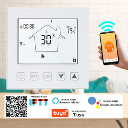 Smart WiFi Thermostat 16A Temperature Controller Electric Warm Floor Heating Room Thermostat Works with Echo Google Home Tuya