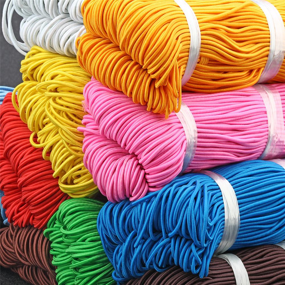 5 Meters 2mm Colorful Round Hair Elastic Rope High-Quality Elastic Rubber Band Elastic Line DIY Sewing Accessories Elastic Cord
