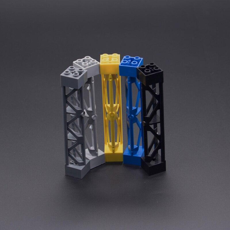 Dubbi bricolage bloc de construction scénario construction 3.85 ''pilier Compatible avec les marques jouet éducatif cadeau pour les enfants