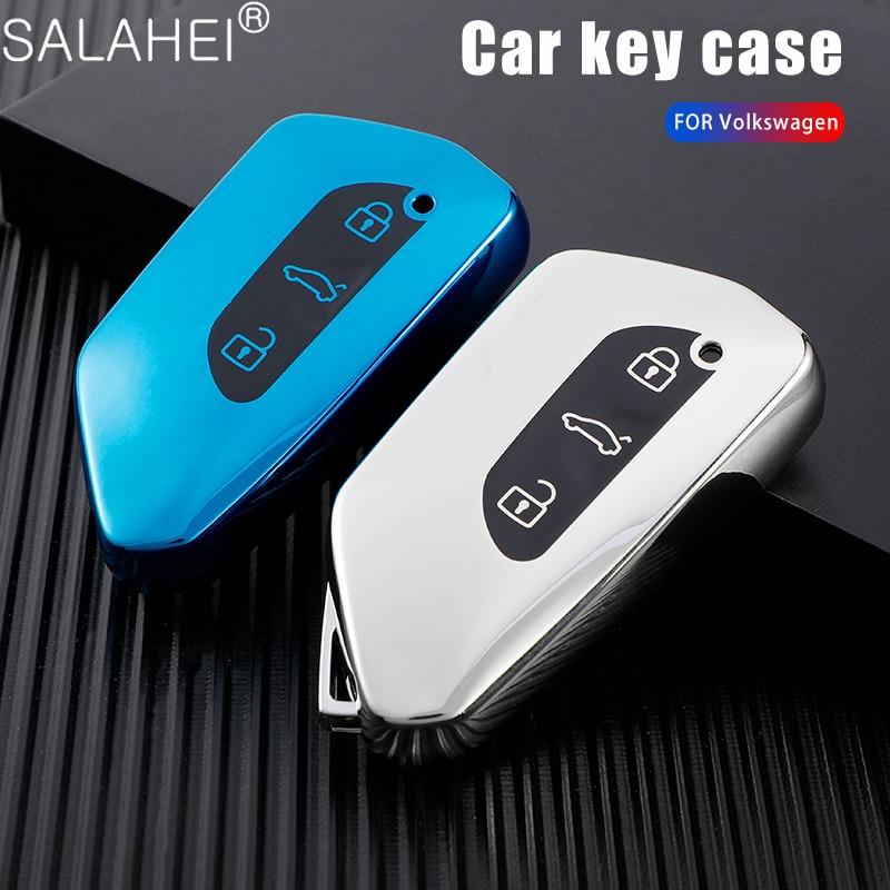 ТПУ чехол ключа дистанционного управления автомобилем чехол для Фольксваген Гольф 8 Mk8 для Seat Leon MK 4 Tarraco Ateca для Skoda Octavia 2020 3 кнопки