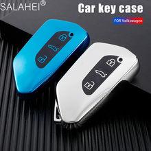 Télécommande de voiture en TPU à 3 boutons, pour VW Volkswagen Golf 8 Mk8 pour Seat Leon MK 4 Tarraco Ateca pour Skoda Octavia 2020