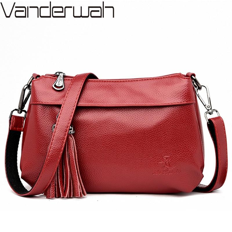 Luxury Handbags Women Bags Designer Tassel Soft Leather Shoulder Bag Female Sac A Main Vintage Crossbody Bags For Women Flap Bag