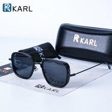 Square Sunglasses Men Luxury Brand Metal Retro Steampunk Gra