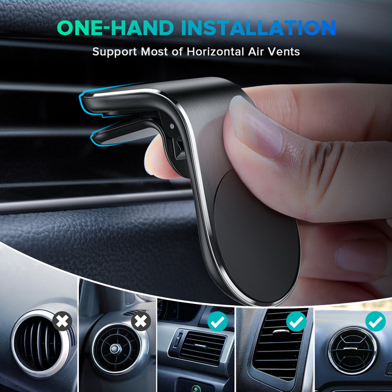 Universal Support For Huawei P20 P30 GPS Car Mount Cell Holder Car Phone Holder Clip Magnetic Auto Air Vent Mount Magnet Bracket