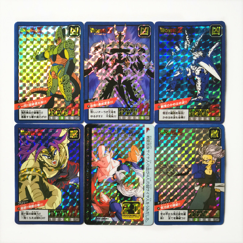 22pcs/set Super Dragon Ball Z Super Saiyan Goku Game Action Toy Figures Commemorative Edition Collection Cards Free Shipping