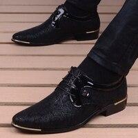 Männer Kleid Schuh Clould Patent Leder Männer Hochzeit Oxford Schuhe Lace-Up Büro Anzug männer Casual Schuhe zapatillas Hombre