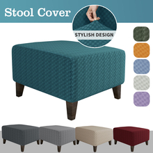 Stool-Cover Furniture-Protector-Covers Footrest Ottoman Square Elastic Sofa