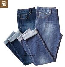 YOUPIN DMN męskie rozciągliwe proste dżinsy elastyczność wygodne oddychające Business casual traveler jednolite jeansy męskie Smart home