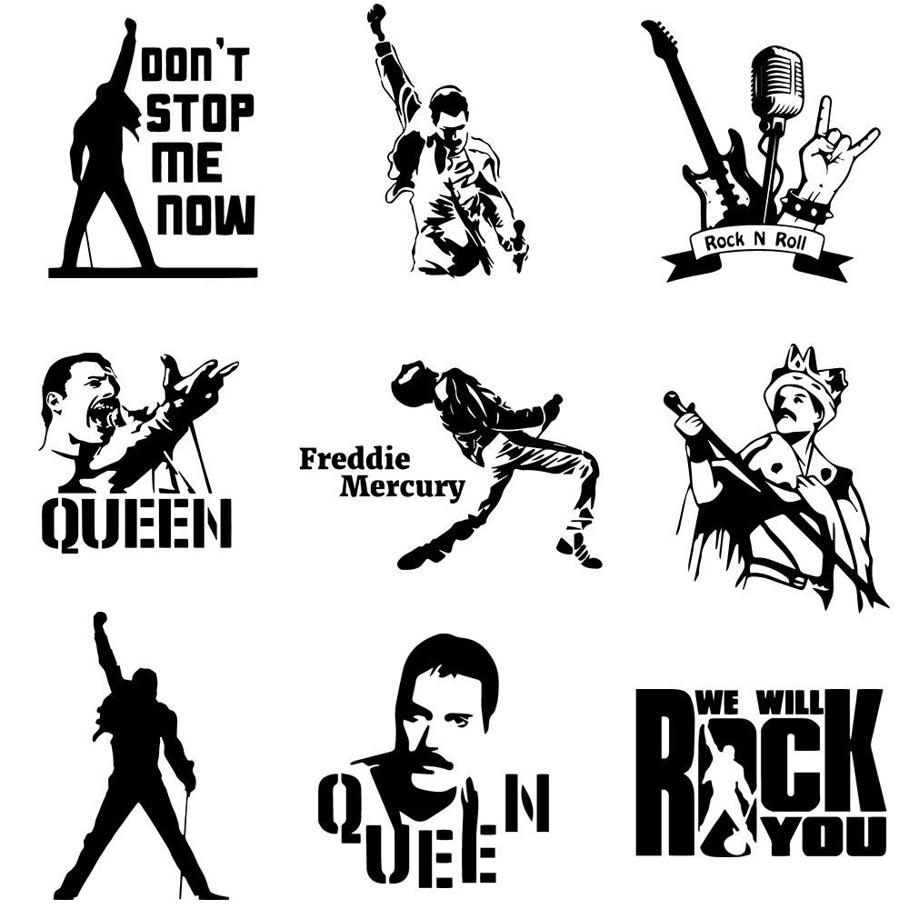 Модные автомобильные наклейки Freddie Mercury Queen Band, автомобильные наклейки, масляный бак, чехол, автомобильный Стайлинг, пользовательские аксесс...