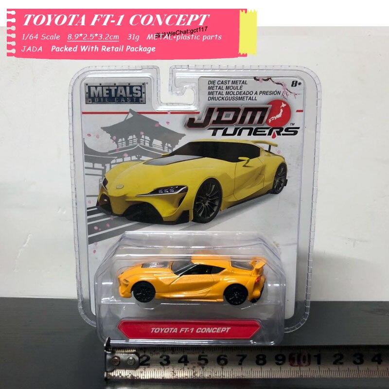 JADA 1/64 Scale Nissan Skyline R34,HONDA NSX TYPE-R,Mitsubishi Lancer Evolution VII Diecast Metal Car Model Toy For Kids,Gift