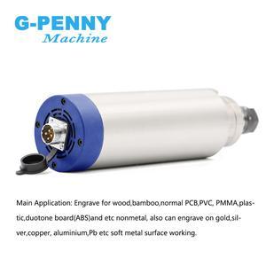 Image 5 - כרסום CNC ציר מנוע 2.2 kw ER20 220v אוויר קירור ציר מנוע 2.2kw אוויר מקורר 80x224mm 4 מסבים עבור CNC חריטה