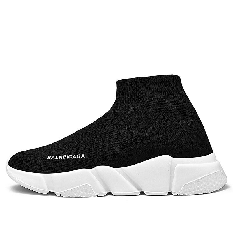 High Top Women Casual Shoes Men Damping Flying 2020 Weaving Couple Sock Shoes Women Tenis Unisex Walking Flat Shoes Footwear