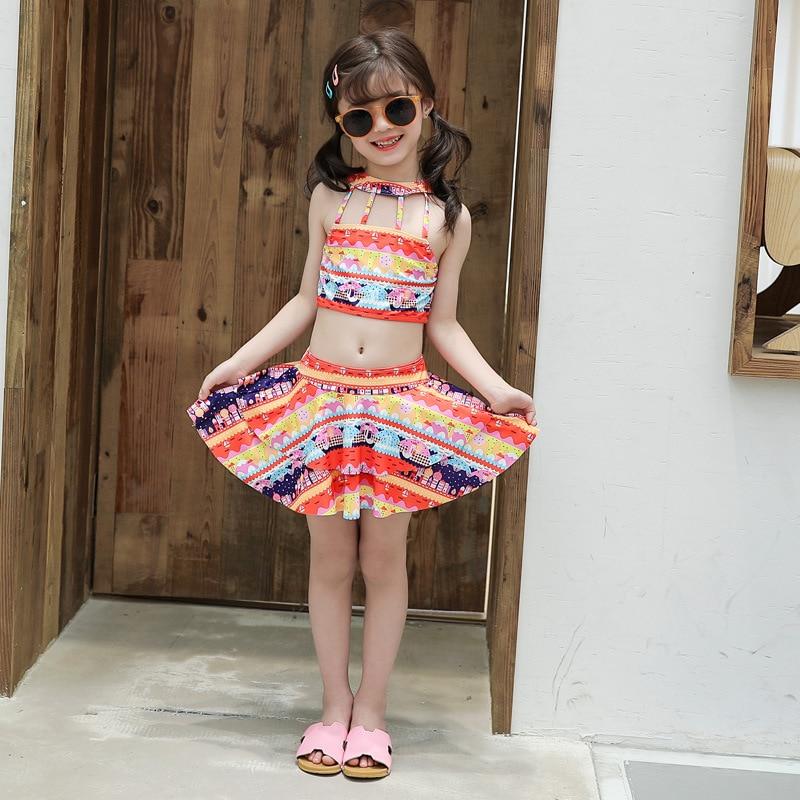 6-8-Year-Old Children New Style Cute Baby Split Type Tour Bathing Suit Children Briefs Bathing Suit