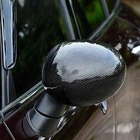 Для BMW MINI Cooper S F54 F55 F56 F60 Настоящее карбоновое волокно зеркало заднего вида оболочка автомобильные аксессуары внешний корпус аксессуары для