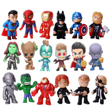 цена на 6/8/12 Pcs The avengers action figure spider-man captain America spider-man hulk anime figure doll toys  Figurines Kids Toys