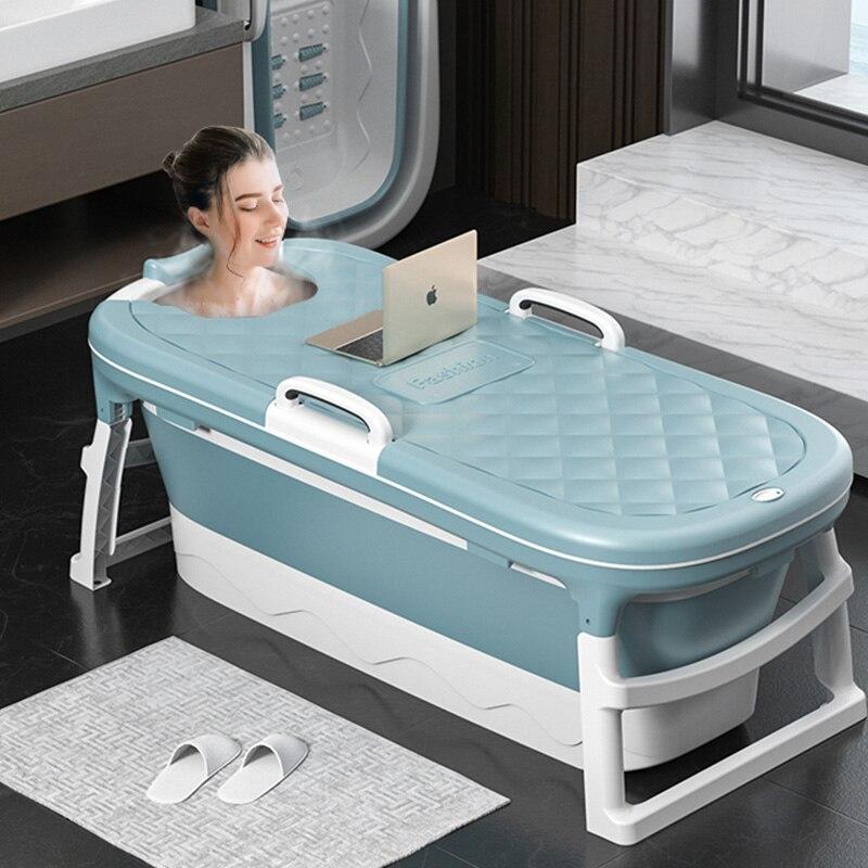 Dobrável grande banho adulto, sauna portátil, suor, balde de chuveiro de vapor, balde de banho doméstico para crianças, banheira de banho de plástico grosso