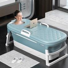 Folding Large Adult Bath, Portable Sauna, Sweat, Steam Shower Bucket, Children's Household Bath Bucket, Thick Plastic Bath Tub