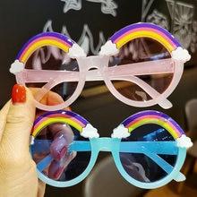 Детские солнцезащитные очки детские в круглой оправе модные