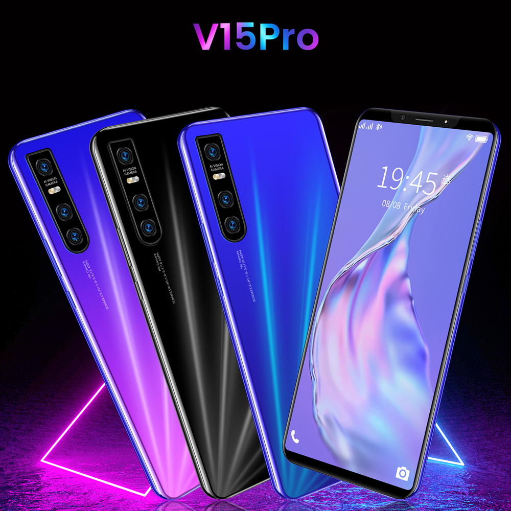 Самый дешевый смартфон V15 Pro 5,72 дюймов полный Экран Смартфон Android 4,4 512 Мб Оперативная память + 4GB разблокированный мобильный телефон с двумя ...
