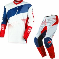 Free Shipping 2020 One MX Racing Jersey and Pants Combo Spring Autumn Element Factor white motocross dirt bike Racing gear