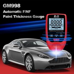 Image 3 - R&D GM998 red paint coating thickness gauge car paint electroplate metal coating thickness tester meter 0 1500um Fe & NFe probe