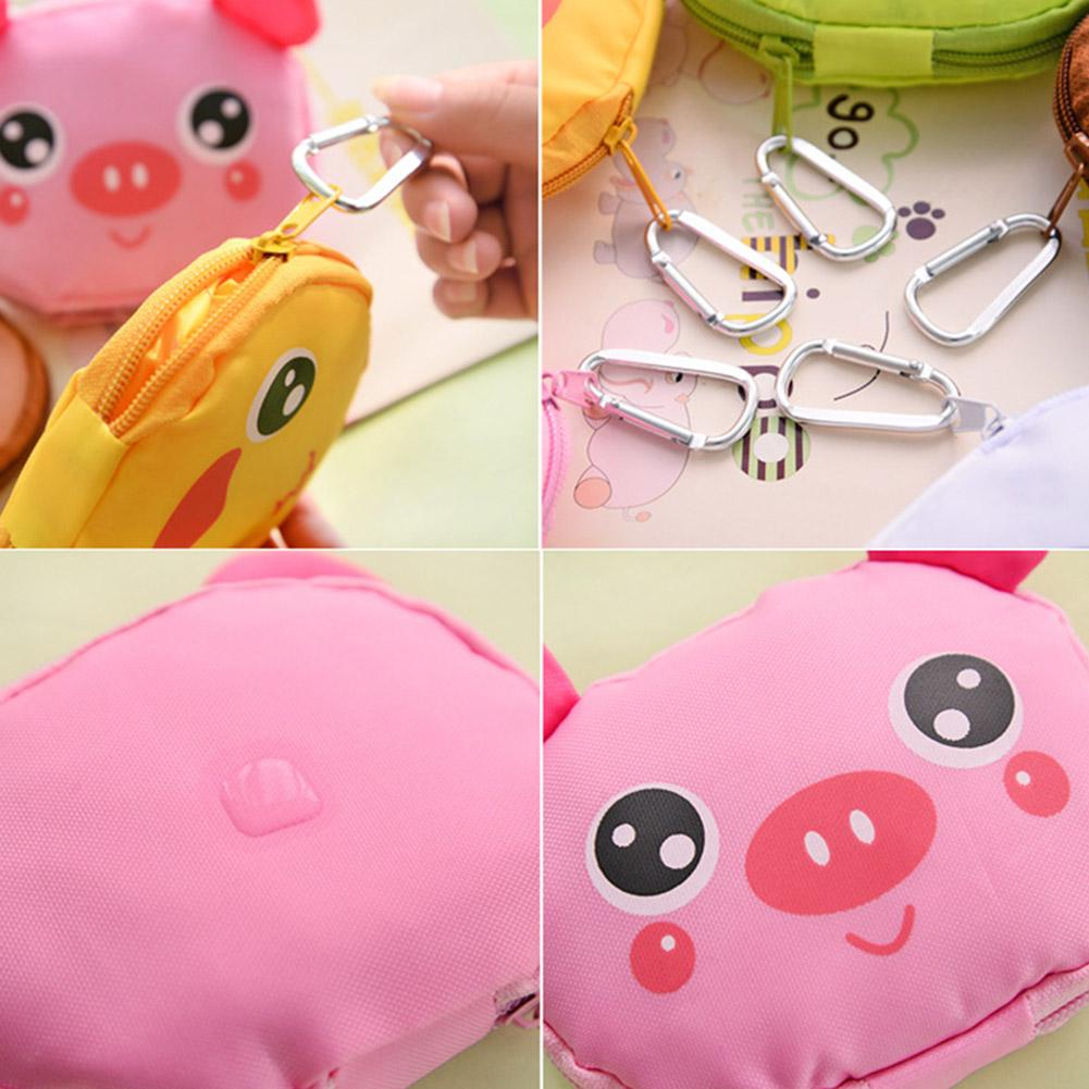 Reusable Folding Shopping Bag Cute Cartoon Animal Foldable Lightweight Fruit Grocery Shopper Bags Storage Folding Pouch Handbags in Shopping Bags from Luggage Bags