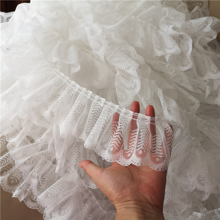 20yards Width 9cm Simple Lace Pleated Doll Dress Wedding Cake Skirt Lace Trim Lace Fabric Accessories Lace Aliexpress