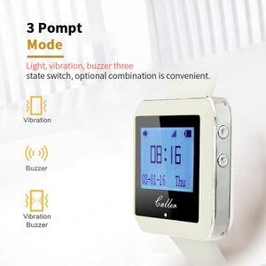 Image 4 - Retekess אלחוטי קורא מערכת שעון מקלט + 10 שיחת כפתור הביפר מסעדה ציוד עבור מהיר מזון משרד קפה F3288B