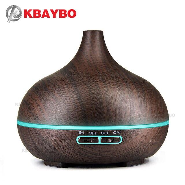 300ml hava nemlendirici uçucu yağ difüzör Aroma lambası aromaterapi elektrik Aroma YAYICI Mist Maker ev ahşap için