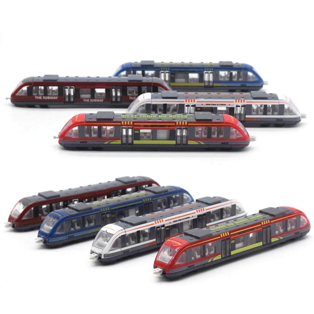 Simulation Alloy Metal High Speed Rail Diecast Train Toy Model Educational Toys Boys Children Collection Gift Color Random
