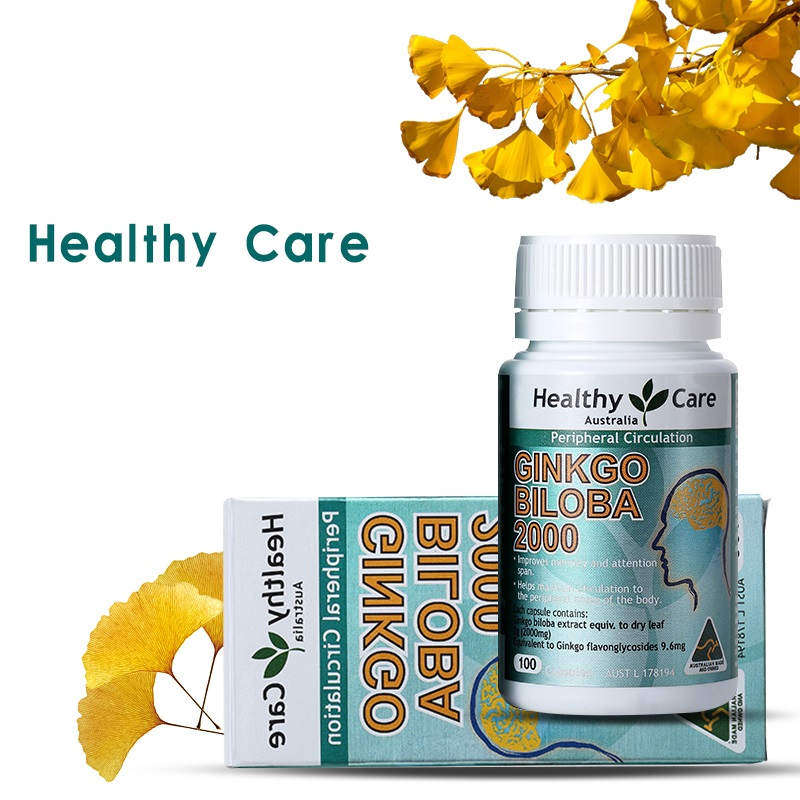 Biloba Brain Vitamin-B Care During Mental Support Cognitive-Function 100S Performance