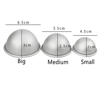 1set Round Aluminium Alloy Bath Bomb Molds DIY Tool Bath Bomb Salt Ball Homemade Crafting Semicircle Sphere Metal Bath Tool Mold 1