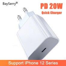 20W USB typ C PD ładowarka Adapter dla iPhone 12 11 Pro XS Max 7 8 QC3.0 PD szybkie ładowanie moc type-c ue wtyczka dla Samsung Xiaomi