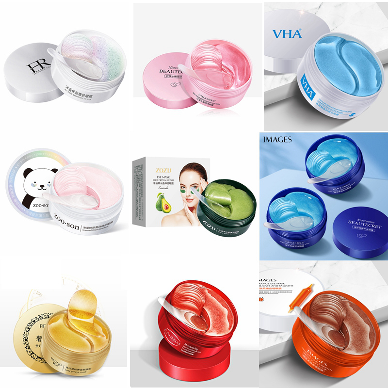 Hyaluronic Acid Eyes Care Collagen Gel Wrinkle Crystal Eyes Masks Cream Seaweed Golden Eye Patches Remove Dark Circles Anti Age