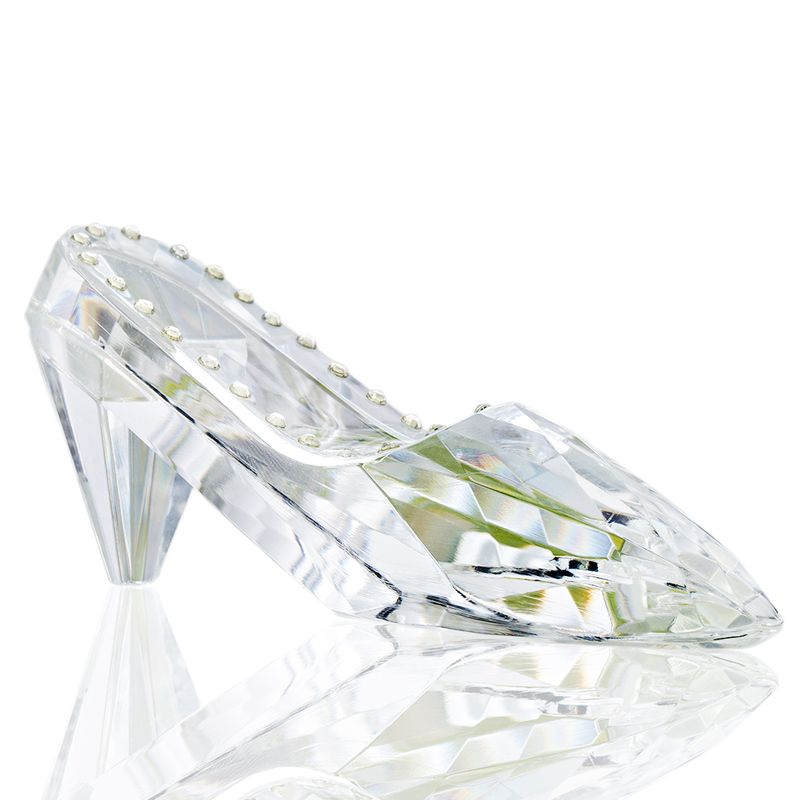 H&D Glass Slipper Crystal High Heels Shoes Figurine Ornaments for Girls Coming-of-Age Ceremony Gift Birthday Party Decorations
