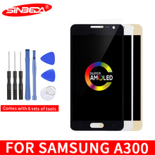 4.5Super AMOLED For SAMSUNG Galaxy A300 LCD Display Touch Screen Digitizer For SAMSUNG A300 Display A3 2015 A300F A300H LCD цена