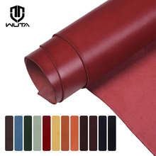 WUTA Top Quality New Waxed Bull Vegetable Tanned Leather Piece DIY Genuine Leather Material Full Grain Cowhide-12Color Available