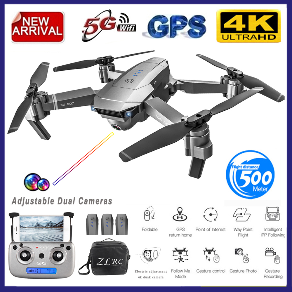 GOOLRC SG907 GPS Drone With Camera 4K 5G Wifi RC Quadcopter Optical Flow Foldable Mini Dron 1080P HD Camera Drone VS E520S E58