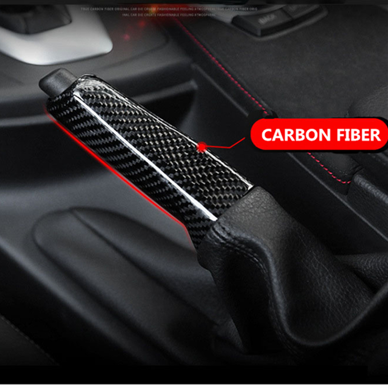 Car Handbrake Grips Cover Interior Trim Accessories Universal Carbon Fiber For BMW 1series X13 Series GT4 Series F30F35 Modified