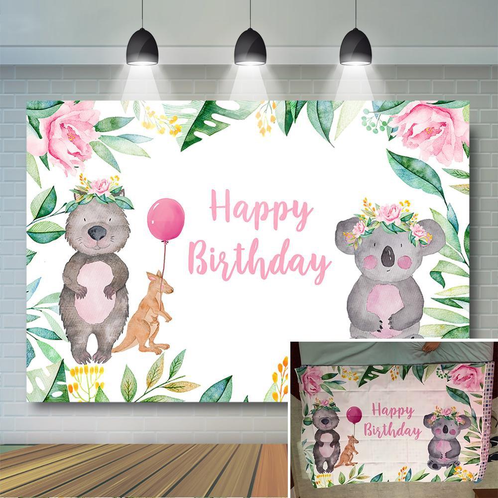 Сафари на день рождения фон коала тема вечерние украшения Дети лесных животных баннер на день рождения
