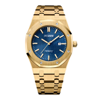 PLADEN Top Marke Uhr Für Männer Luxus Edelstahl Strap Tiger Farbe Uhren Hohe Qualität Business Stil Quarz Uhr Verkauf