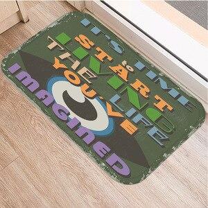 Image 5 - Нескользящий декоративный коврик в британском стиле, ковер для кухни, пола, гостиной, домашний Мягкий Нескользящий дверной коврик 40x60 см