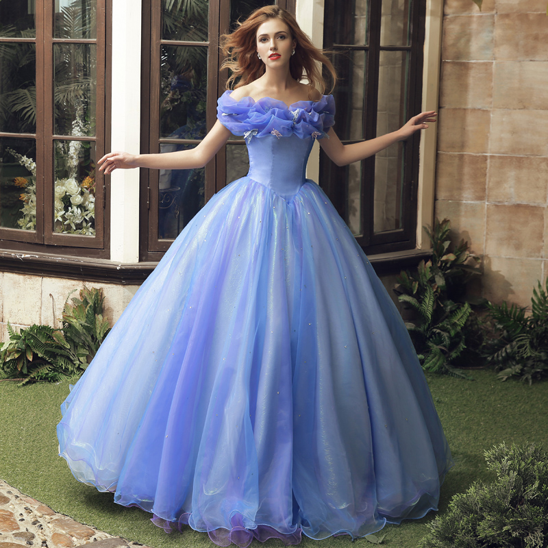Popular Ball Gown Neck With Sleeves Ruched Organza Blue Vestido Hot Selling Quincenera Gown 2018 Mother Of The Bride Dresses