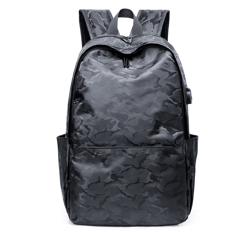 Unisex PU Leather Backpack Vintage Amry Camo Print Womens Casual Daypack Mens Travel Sports Bag Boys College Bookbag