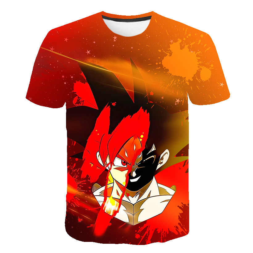 Лидер продаж, новые футболки с драконом и мячом Z мужские летние футболки с 3D принтом супер сайян Сон Гоку черный Zamasu Vegeta Dragon Ball Повседневная футболка Топы