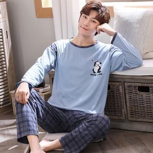 Image 3 - New Spring Autumn Couple Pajamas Set Plus Size M 4XL Long Sleeve Cotton Pyjama Cute Cartoon Pajama For Men And Women