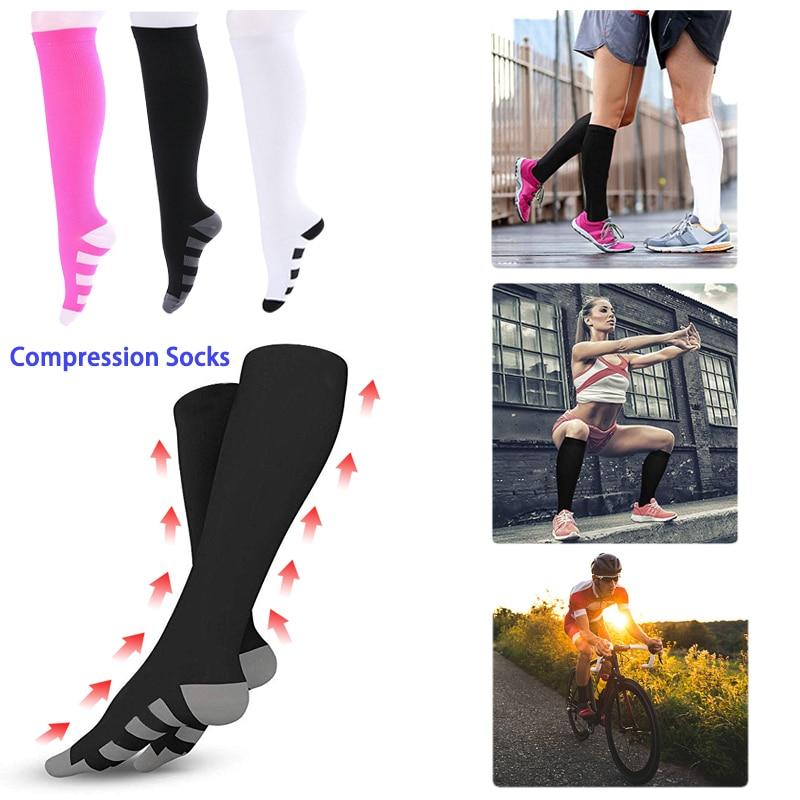 Compression Stockings Run Basketball Football Socks Anti-swelling Stretch Outdoor Sports Socks Pilates Compression Socks D40