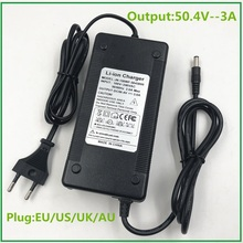 50.4V 3A Lithium Li ion Battery Charger For 44.4V Lipo Bike Power Tool Scooter Battery Pack With Cooling Fan High Quality Strong