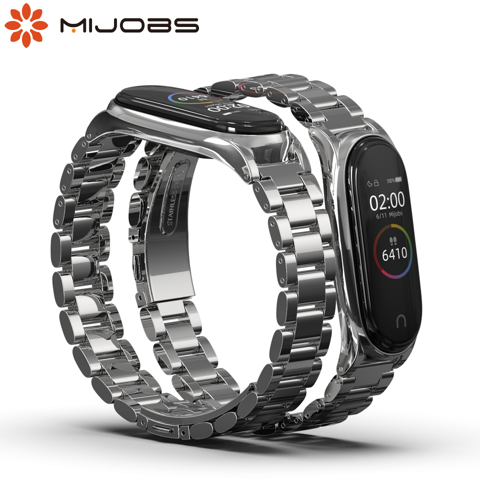 For Xiaomi Mi Band 4 Metal Strap Screwless Stainless Steel For Xiaomi Mi Band 4 3 NFC Wrist Bracelet Metal Milanese Wristbands